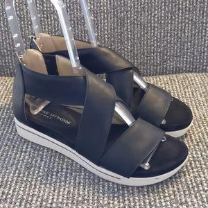 Adrienne Vittadini Sport AV-CLAUD Black Sandal